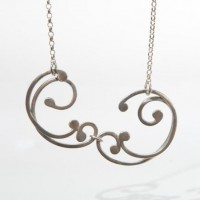 Silver Double Link Baroque Necklace